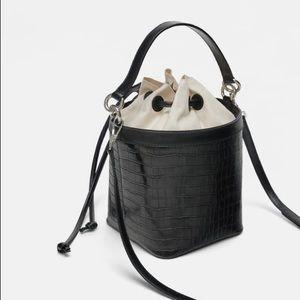 Zara Bags - Zara croc cube bag